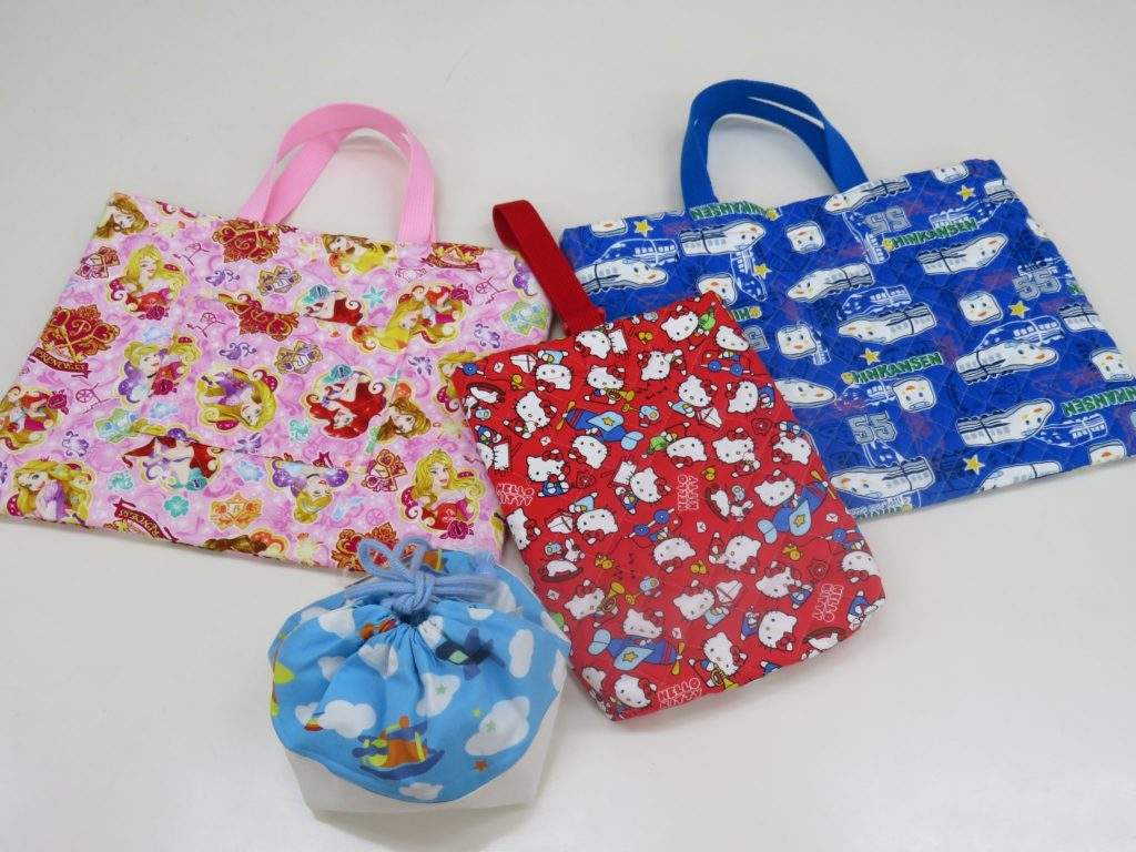 ソーイング「入園入学準備・袋物」