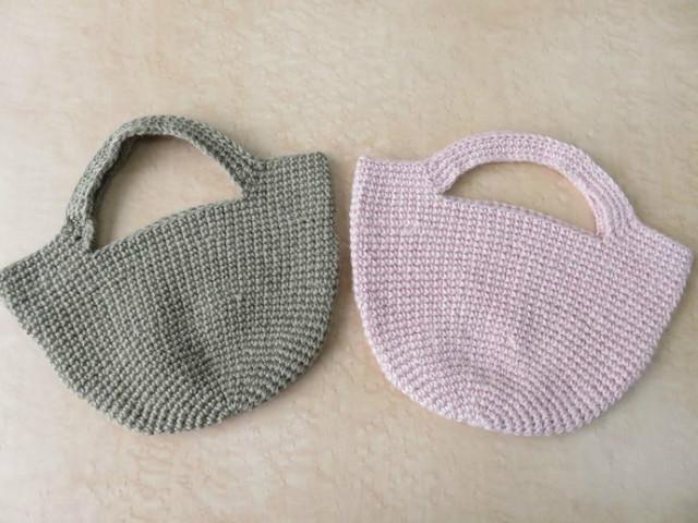 コマコマ5玉で編む 「麻の細編みバック」